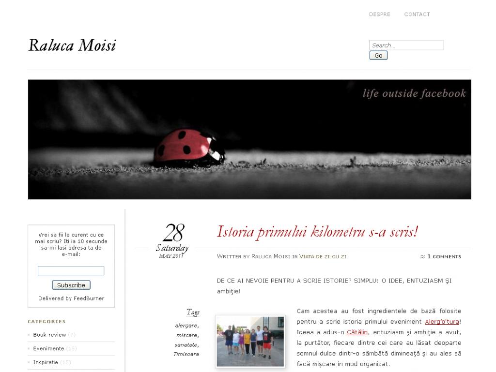 Primul blogger corupt la alergotura, Raluca Moisi