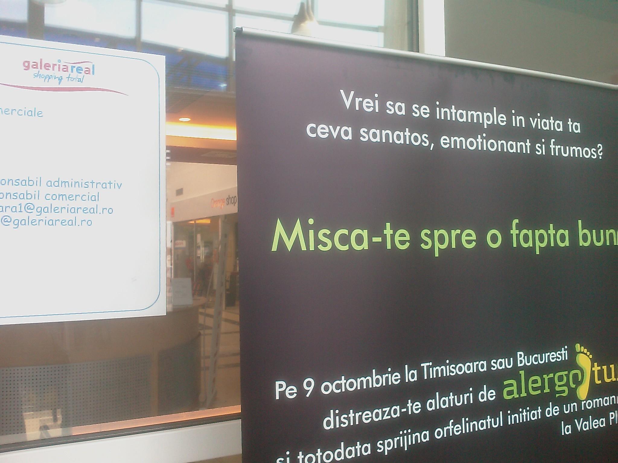 Galeria REAL Timișoara sprijină Alergotura!