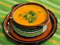 Supa crema de legume, cruda
