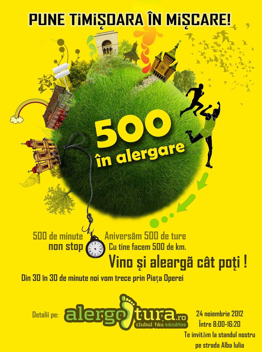 500 in alergare afis mic