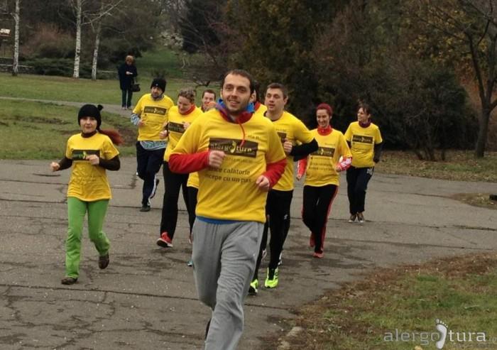 Alergare in Parcul Botanic din Timisoara