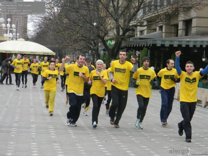 Alergare in centrul Timisoarei